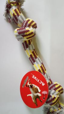 Stiff Knotted rope toy