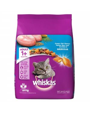 Whiskas Adult (+1 year) Dry Cat Food, Ocean Fish Flavour, 480g  15Packts