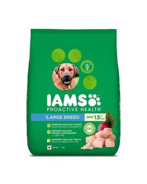 IAMS Proactive Health Adult Large Breed Dogs (1.5+ Years) Dry Dog Food, 3 kgx4