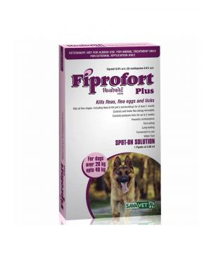 Fiprofort Plus Spot On For Dogs Over 20 to 40 kgs 2.68 ml/ Pipette