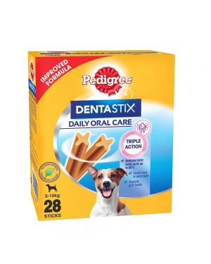 Pedigree Dentastix  Dog Treat Oral Care for Adult Small Breed (5-10 kg), (28 Sticks) 440g Monthly 40 packts