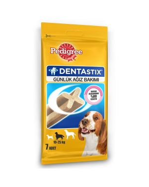 Pedigree Dentastix  Dog Treat Oral Care for Adult Medium Breed (10-25 kg), (7 Sticks) 180g X10