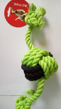Ball and short rope toy  with handle 1