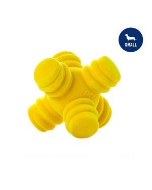 Sprong Ball Interactive Dog Toy - Bouncy Soft Super Squeaky Dog Ball for Large Breed, Medium and Small Dogs,(YELLOW)