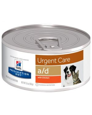 Hill's Prescription Diet Urgent Care a/d Canine/Feline  Wet Food With Chicken - 156 g For Dogs & Cats