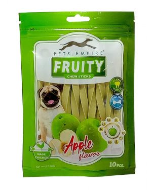 Pets Empire Fruity Chewy Sticks  Dog Treats  Apple Flavor Weight 120 GMS