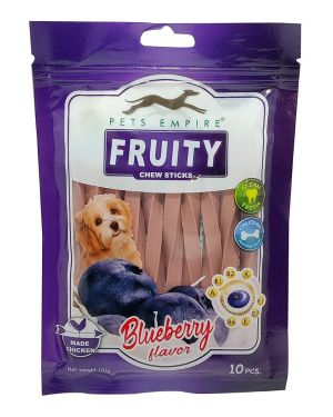 Pets Empire Fruity Chewy Sticks Dog Treats Blueberry Flavor Weight 120 GMS