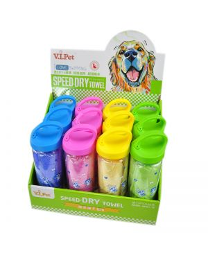 Pet Absorbent Towel With Carabineer Tube (Pack Of 1 Piece)