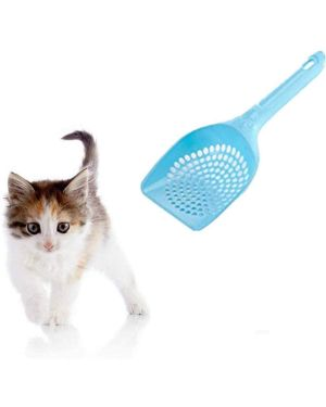 Plastic Litter Scoop For Cats (Color May Vary)