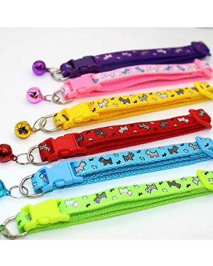 PETZ  Extra Small Cat Collar Adjustable Bell For Kitten, Puppy, (Snap Buckle) Color May Vary 1Piece