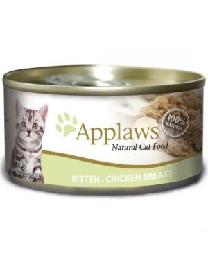 APPLAWS KITTEN FOOD TIN CHICKEN BREAST 70G (24 CANS)