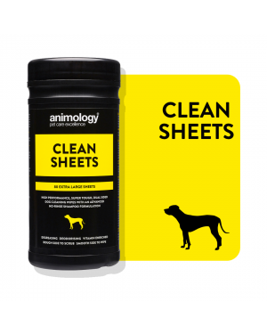 ANIMOLOGY Clean Sheets Extra Large Dog Wipes 80 Sheets