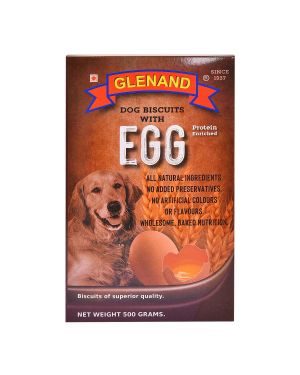 GLENAND DOG EGG BISCUITS 500GM