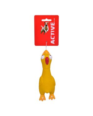 LATEX SQUEAKY CHICKEN 17CM