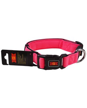 Glenand Pet Mesh Collar Small Pink