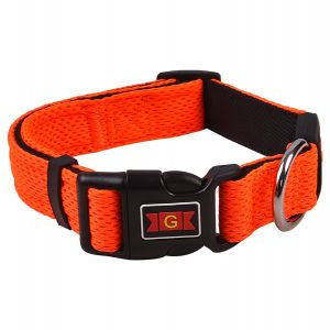 Glenand Pet Mesh Collar Large Orange