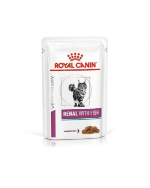 ROYAL CANIN Renal Feline Tuna Wet Cat Food, 85 g Pouches (Pack of 12)