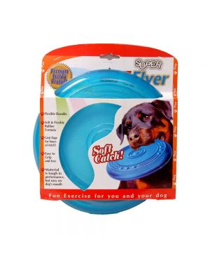 freestyle flying disc Rubber Dog Toy, 9 inches, Colour May Vary