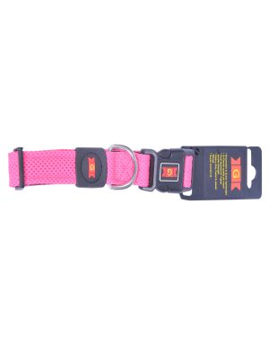 Glenand Pet Mesh Collar Medium Pink