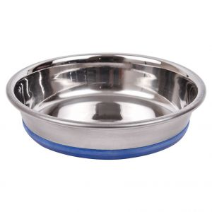 Glenand Stainless Steel Cat Bowl with Rubber Base (Small)