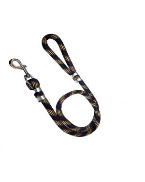 PETZ ROPE DOG LEASH BALCK WITH GOLDEN PRINTED15MM  (Color May Vary)