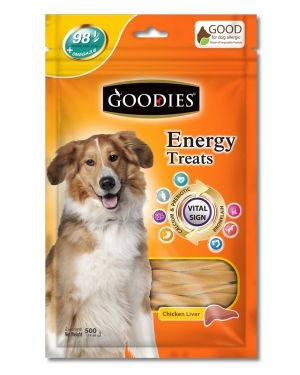 Goodies Energy Treat Twisted Chicken Liver 500Gm