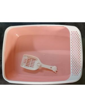 Cat litter box with scoop (square)