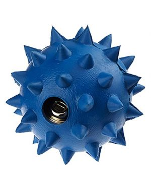 Rubber Spike Ball With Bell Large (Color May Vary 1 Piece)