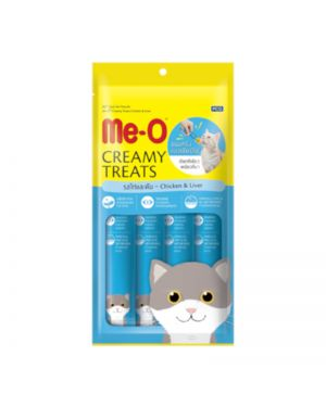 MEO CREAMY CAT TREATS CHICKEN AND LIVER 60GM