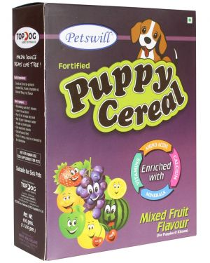 Petswill Cereal Mixfruit - for Puppies & Kittens Pet Food 400GM