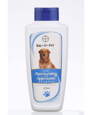 Bay-o-pet Vanity Moisturising and Antiseptic Shampoo for Dogs and Puppies, 275ml