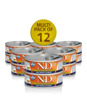 Farmina N&D Pumpkin - Cat – Lamb & Blueberry - Adult - (12Cans) x 80Gms