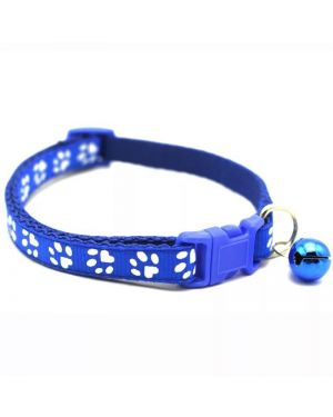 Pet Cat,Puppy Collar Cute Paw Print With Bell  Adjustable Buckle Collar