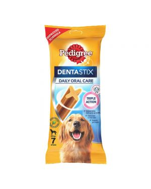 Pedigree Dentastix Large Breed (25 kg+) Oral Care Dog Treat (Chew Sticks) (7 Sticks) 270g X10