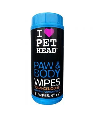 Pet Head Paw and Body Dog Wipes - 50 wipes