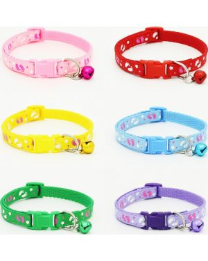 Adjustable Cute Fashion Pet Puppy,Kitten,Cat Collars with Bell (1Piece)