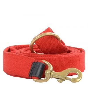 Vama Leathers Strong Leash For Dogs  Natural Cotton for Large and Big Size Dog, 5 Feet Long (RED)