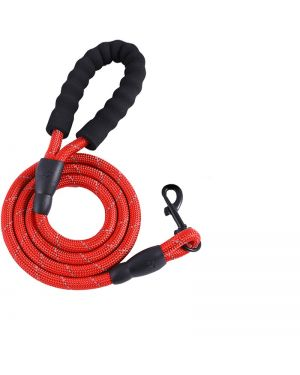 PETZ Reflective Dog Leash Strong With Comfortable Leash RED 15MM