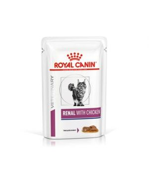 Royal Canin Renal With Chicken  WET CAT FOOD (Pack of 12)