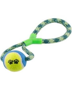 Rope Tug Tennis Ball Chew Toy For Dog