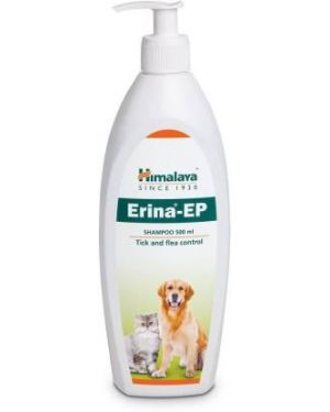 HIMALAYA Tick and Flea Control Anti-itching Erina-EP Shampoo for Dogs and Cats 450ML