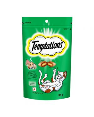Temptations Cat Treats Seafood Medley Flavor (85g each)(Pack of 12)