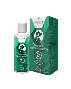 VIV KETO SPRAY  For Dogs & Cats 100ML (Fungal Infections)