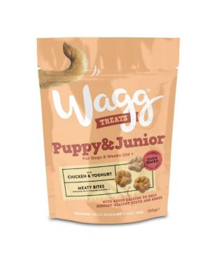 Wagg Puppy and Junior Chicken and Yoghurt Dog Treats - 120 g