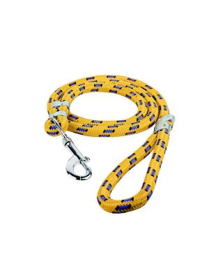 Glenand Stylish Multicolour Nylon Thick Rope   Leash Durable Printed Rope for Training Small and Medium Dogs Walking Leads with Strong   Hook (YELLOW)