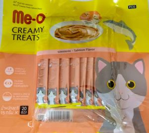 Me-O Creamy Treats Salmon Flavour Cat Treats, 300gm For Cats & Kittens
