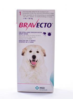 Bravecto 1400mg for X-Large Dogs weighing 40-56kg (88-123lbs)