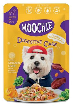 Moochie Wet Dog Food Digestive Care Formula Chicken Liver, Carrot, Pumpkin and Spinach Size 85 g. (12 Pouch)