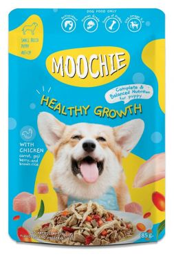 Moochie Puppy Wet Food Healthy Growth Formula Chicken, Carrot, Goji Berries and Brown Rice 85 g. (12 Pouch)