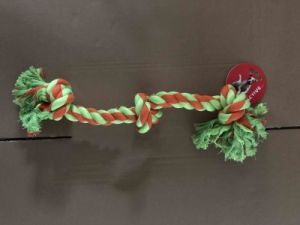 Knotted Rope toy with  middle knot